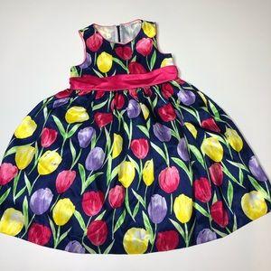 American Princess Girls Lilly Print Dress sz6. 045